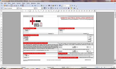 electrical testing certificates software  edition