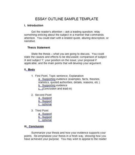 37 Outstanding Essay Outline Templates (argumentative