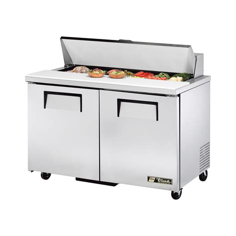 true refrigerated sandwich prep table true tssu 48 12 hc sandwich salad prep table 2 solid door