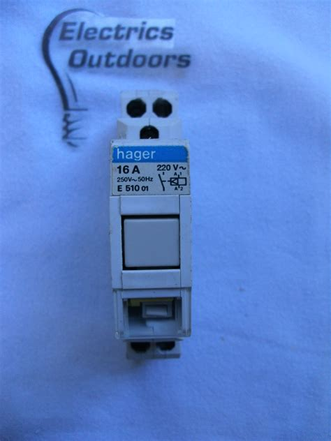 hager contactor relay manual e 510 220v 250v hager circuit breaker specialists