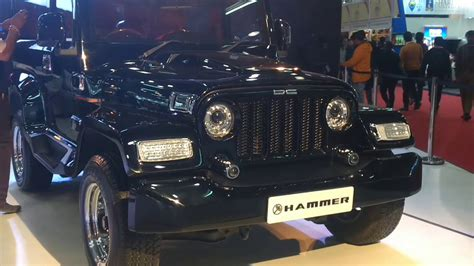 auto expo 2018 d c thar modified hammer auto expo