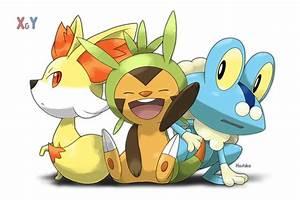 Fennekin Chespin & Froakie | Pokemon | Pinterest