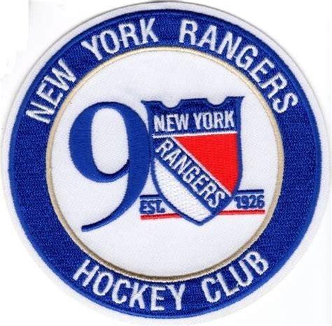 york rangers patch  anniversary   season