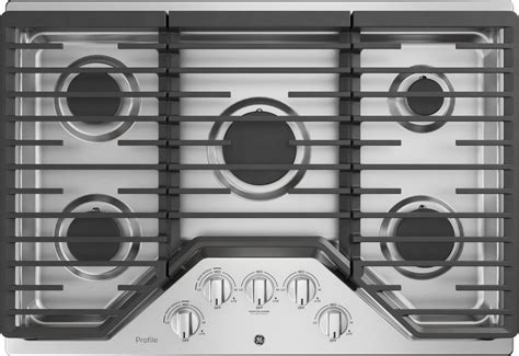 pgpslss ge profile  gas cooktop  btu power burner stainless steel