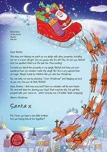 what santa39s letters look like With mail santa a letter