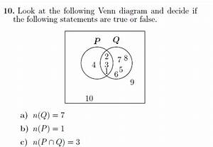 A Worksheet On Venn Diagrams And Set Notation   The