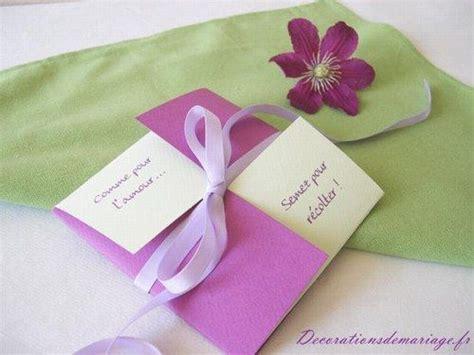 idees de decoration de mariage faire part marque place