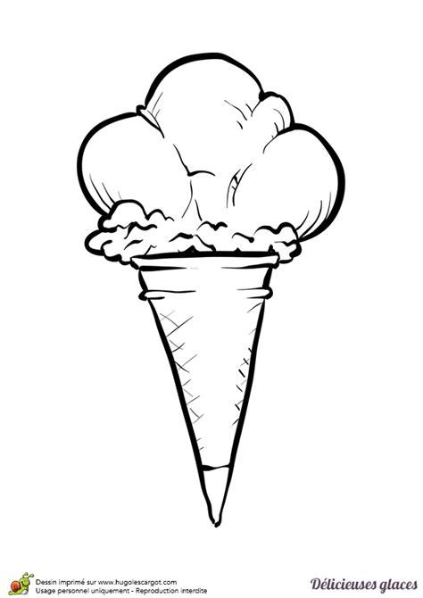 comment faire une cuisine coloriage d un cornet géant avec trois boules de glace