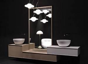 Luminaire Salle De Bain Design : miroir salle de bain lumineux et clairage indirect en 50 id es ~ Teatrodelosmanantiales.com Idées de Décoration