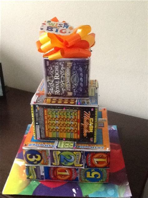 lottery ticket cake lottery ticket gift auction basket