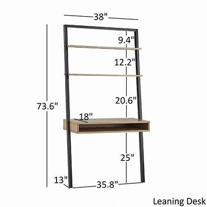 Overstock Leaning Ladder Shelf Furniture Shelves Desk
