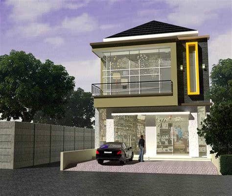 desain rumah ruko satu lantai