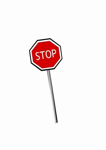 Stop Sign Clipart Clip Transparent Leaning Signs