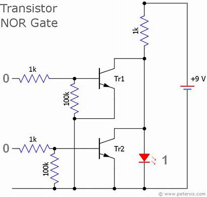 Nor Gate Transistor Circuit Logic Ttl Gates