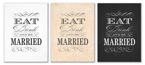eat drink   married wedding intivations antique images