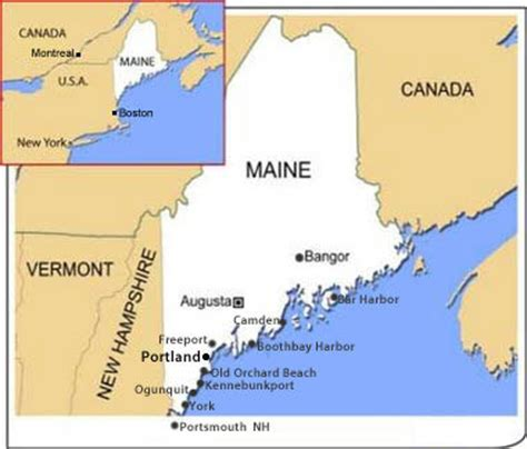 maine map travel guide