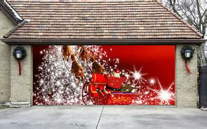 3d christmas door decoration garage door covers 3d banners outside house decorations billboard g29 ebay