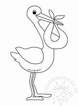 Stork Vorlage Coloringpage Storch Tippsvorlage sketch template