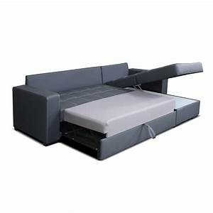 Canape convertible avec meridienne coffre moda univers for Canape convertible avec tapis original