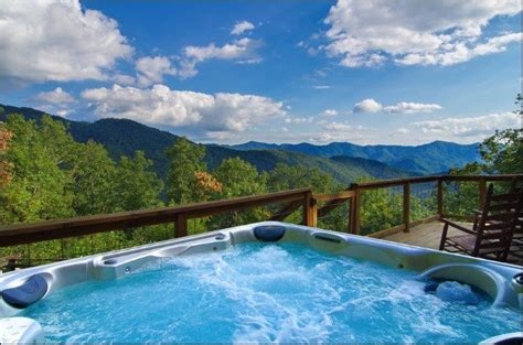 tub mountain view wengen chalet pet friendly bryson city vacation rental