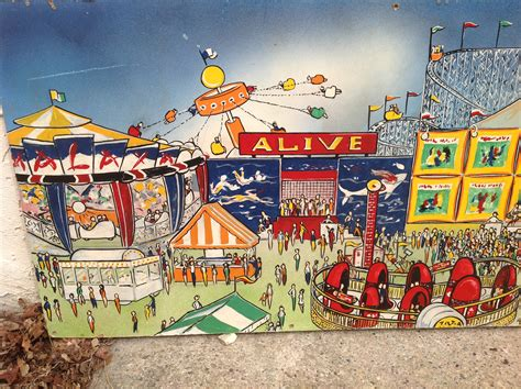 huge carnival painting signed james fboyd  obnoxious