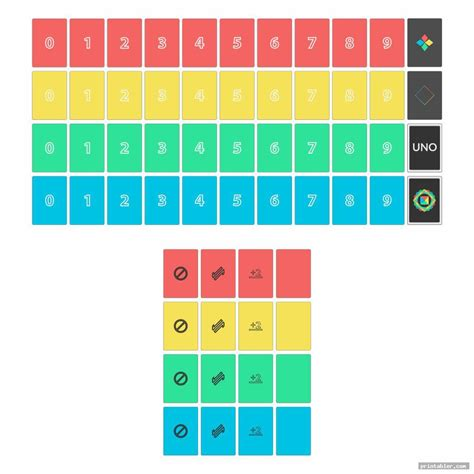 printable uno deck printablercom