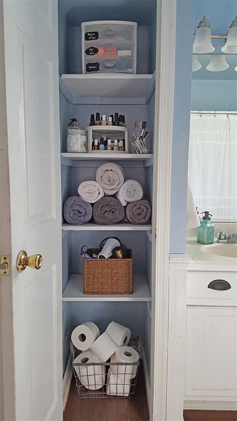 apartment bathroom storage ideas organized linen closet linens storage and spaces