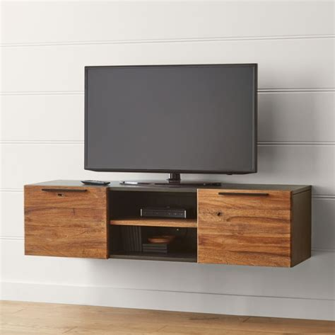 rigby  small floating media console crate  barrel