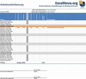 Excel Stunden Berechnen Vorlage : excel arbeitszeiterfassung vorlage 2014 excelnova ~ Themetempest.com Abrechnung