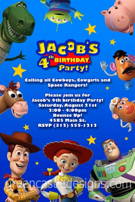 Toy Story Party Bag Template by Toy Story Birthday Invites Cimvitation