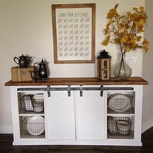 best 25 kitchen buffet ideas on pinterest kitchen With buffet table with barn doors