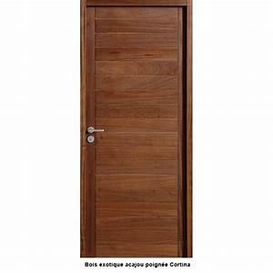 Bloc porte bois exotique dootdadoocom idees de for Porte de garage enroulable avec porte interieur massif
