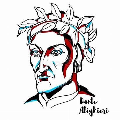 Dante Alighieri Illustrazione Portrait Portret Portraet Ritratto