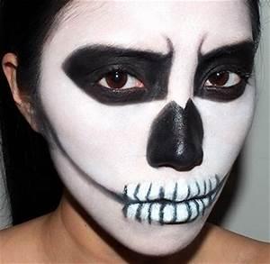 Maquillage Squelette Facile : maquillage halloween squelette facile modele de maquillage ~ Dode.kayakingforconservation.com Idées de Décoration