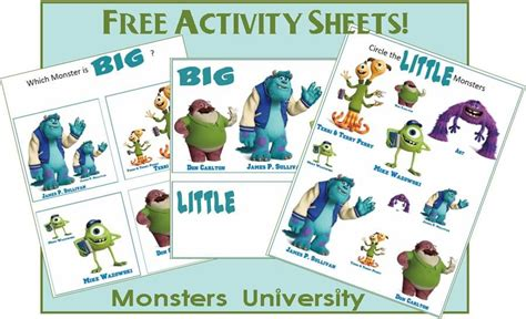 big and worksheet monsters printables 459 | dc60579b838736a6988ad17fa0409b92