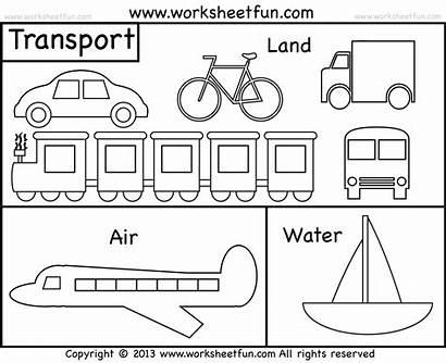Transportation Preschool Means Worksheet Worksheets Coloring Kindergarten