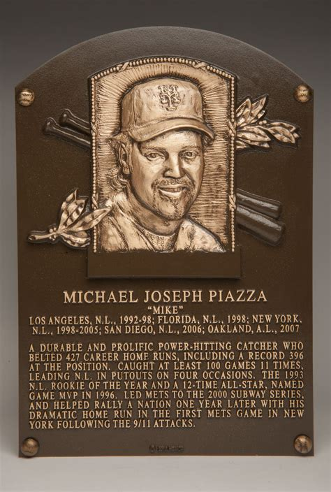 heres     mike piazzas hall  fame plaque