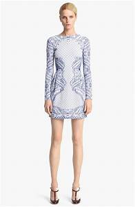 Valentino Embroidered Knit Dress in Blue (China Blue ...