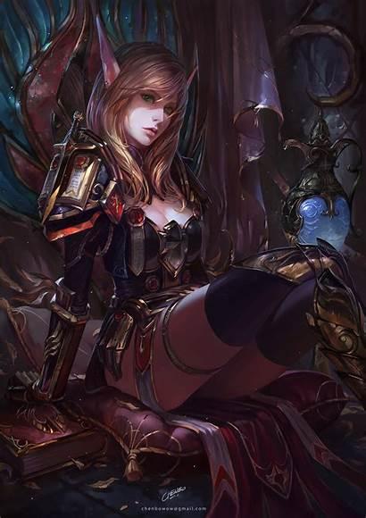 Elf Warcraft Blood Anime Warrior Comic Woman