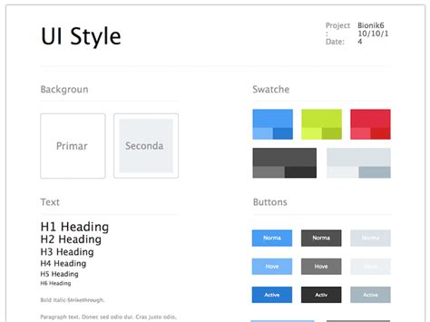 ui style guide sketch freebie free resource for