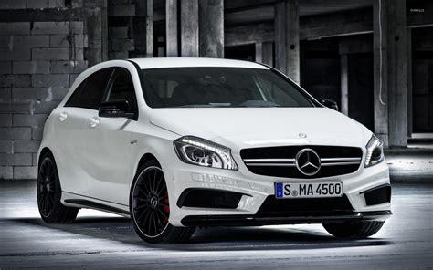 White Mercedes-benz A45 Amg Wallpaper