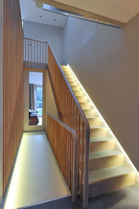 cool lighting effects staircase transitional  landing