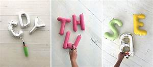 painted letter balloons With blow up balloon letters