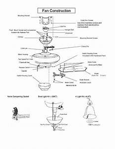 Parts Of A Ceiling Fan Diagram