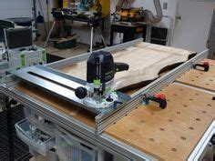 flattening  slab table top   festool router sled