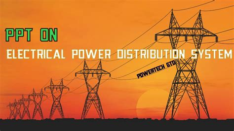 electrical power distribution system youtube