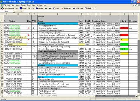 screenshot easyprojectplan excel template excel