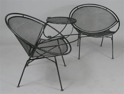 Salterini Wrought Iron Chairs by Vintage Wrought Iron Radar T 234 Te 224 T 234 Te By Salterini At 1stdibs