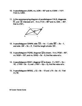 properties  parallelograms worksheet  dpf galli tpt