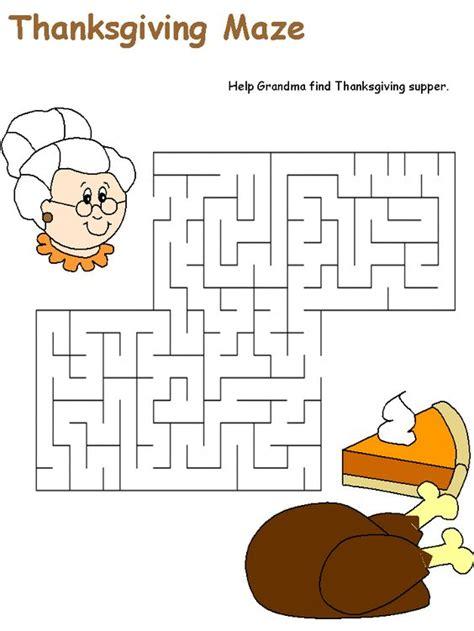 worksheets  kindergarten thanksgiving
